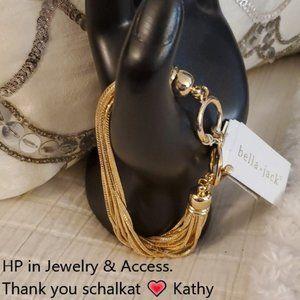 Bella jack bracelet gold NWT